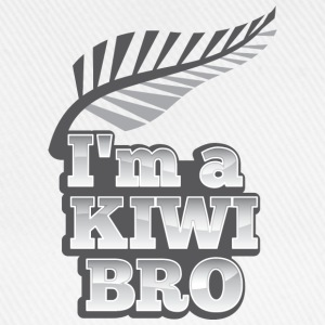 I'm a KIWI BRO with silver fern New Zealand  Aprons - Baseball Cap