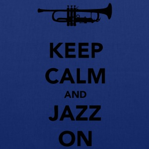 Keep Calm and Jazz On Trumpet - Tote Bag