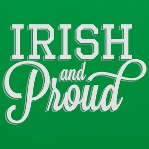 Irish and Proud - White Lettering Hoodies & Sweatshirts - Tote Bag