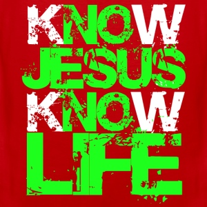 KNow Jesus KNow Life green T-Shirts - Männer Premium Tank Top