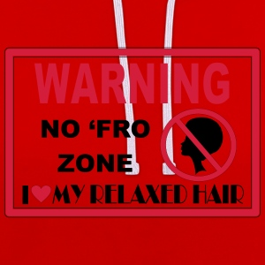 No Fro Zone T-Shirts - Contrast Colour Hoodie
