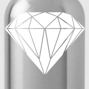 weisser Diamant+HIPSTER+MOUSTACHE+GEEK+SWAG STYLE Pullover & Hoodies - Trinkflasche