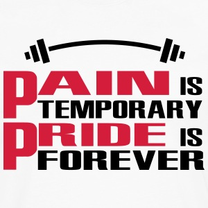 Pain is temporary, Pride is forever Camisetas - Camiseta de manga larga premium hombre