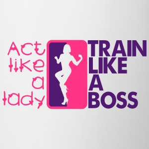 Act like a lady - train like a boss T-skjorter - Kopp