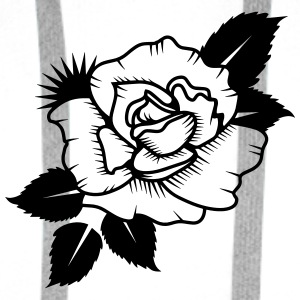 A Rose Dessiné Badges - Sweat-shirt à capuche Premium pour hommes