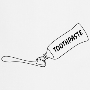 Toothpaste And Toothbrush T-shirts - Forklæde