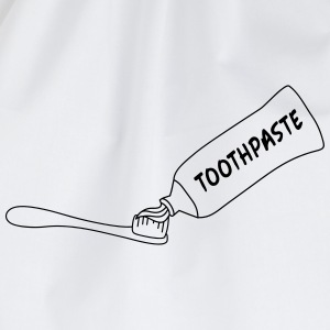 Toothpaste And Toothbrush Camisetas - Mochila saco