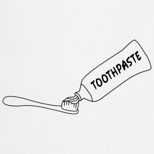 Toothpaste And Toothbrush Camisetas - Delantal de cocina