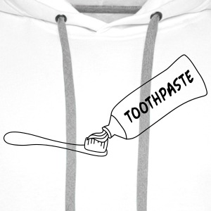 Toothpaste And Toothbrush T-shirts - Mannen Premium hoodie