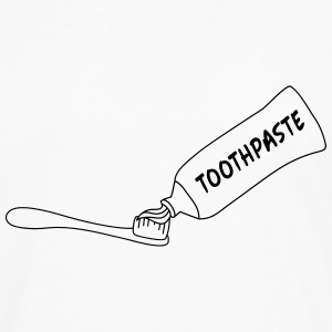 Toothpaste And Toothbrush T-shirts - Mannen Premium shirt met lange mouwen