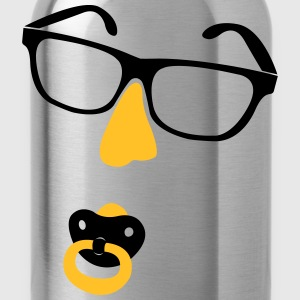 Glasses with nose and pacifiers  T-Shirts - Water Bottle