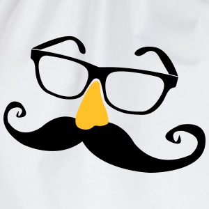 Mustache glasses with nose  T-Shirts - Drawstring Bag