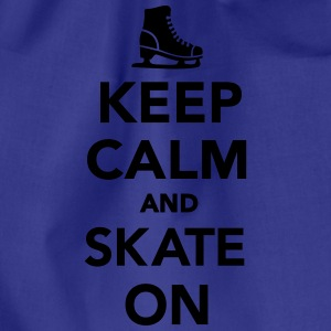 Keep calm and skate on T-Shirts - Turnbeutel