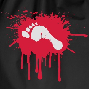 Bloody Foot T-Shirts - Drawstring Bag