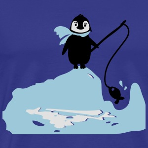 South pole penguin's fishing Tote Bag - Men's Premium T-Shirt