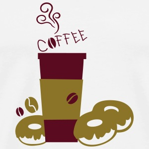 Coffee cup & Donuts Mug - Men's Premium T-Shirt