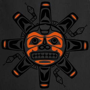 Native american sun, tribal art symbol, indians, T-shirts - Keukenschort