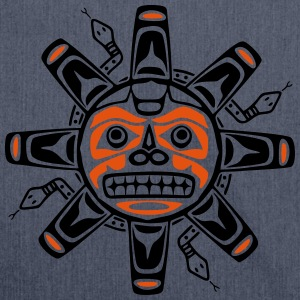 Native american sun, tribal art symbol, indians, T-Shirts - Schultertasche aus Recycling-Material