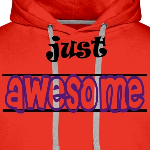 Just awesome Tabliers - Sweat-shirt à capuche Premium pour hommes