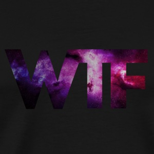 Black _wtf + + MOUSTACHE HIPSTER GEEK + + SWAG STYLE + Bags & Backpacks - Men's Premium T-Shirt