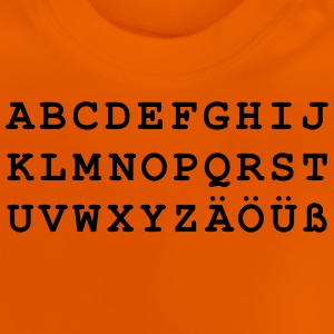 Deutsches Alphabet - Baby T-Shirt