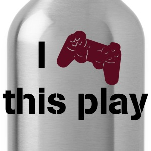 i love this play station Camisetas - Cantimplora
