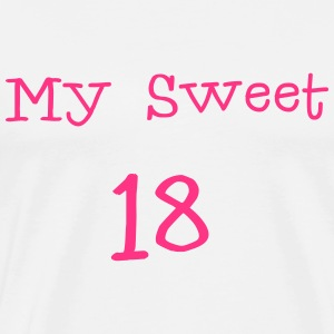 My sweet 18 \/ 18e verjaardag \/ party 1c. Sweaters - Mannen Premium T-shirt