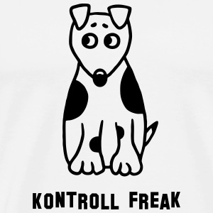 Kontroll Freak - Hund  - Premium T-skjorte for menn