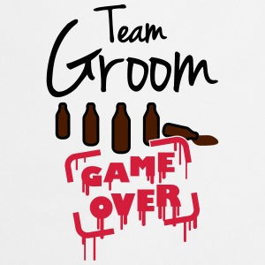 Team Groom Game Over T-shirts - Förkläde
