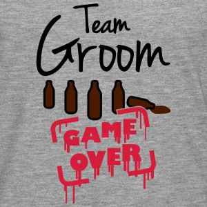 Team Groom Game Over T-skjorter - Premium langermet T-skjorte for menn