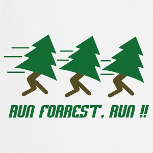 Wit Run Forrest, Run T-shirts - Keukenschort