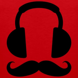 Headphone Mustache Sweaters - Mannen Premium tank top