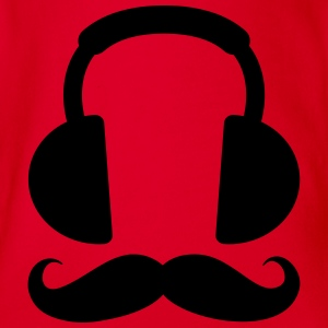 Headphone Mustache T-Shirts - Baby Bio-Kurzarm-Body