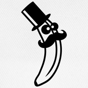 Sir Mustache Banana With Top Hat T-skjorter - Baseballcap