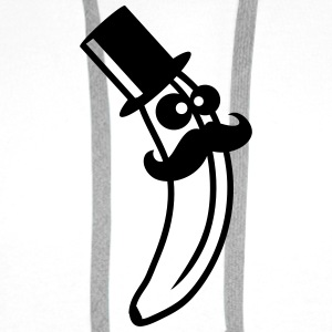 Sir Mustache Banana With Top Hat T-shirts - Herre Premium hættetrøje