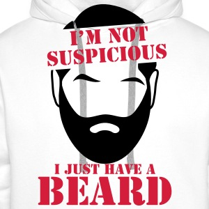 I'm not SUSPICIOUS I just have a BEARD! Shirts - Men's Premium Hoodie