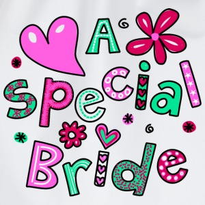A Special Bride Text Expression - Drawstring Bag