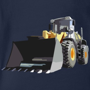 wheel loader Shirts - Organic Short-sleeved Baby Bodysuit