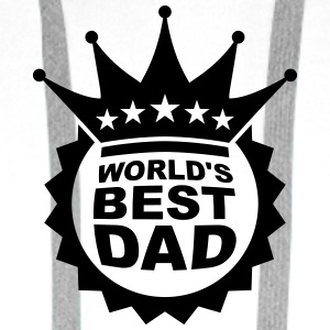 Worlds Best Dad Logo T-shirts - Premiumluvtröja herr