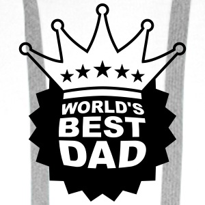 Worlds Best Dad T-skjorter - Premium hettegenser for menn