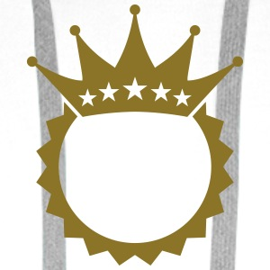 King Crown Design T-shirts - Premiumluvtröja herr