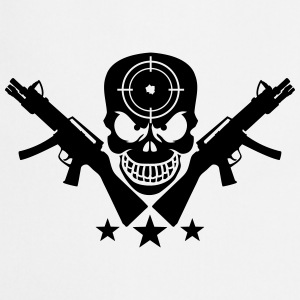 Assault Rifle Gun Skull Target Design T-shirts - Förkläde