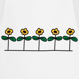 Flowers Design Camisetas - Delantal de cocina
