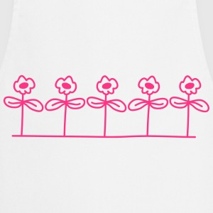 Flowers Design T-Shirts - Cooking Apron