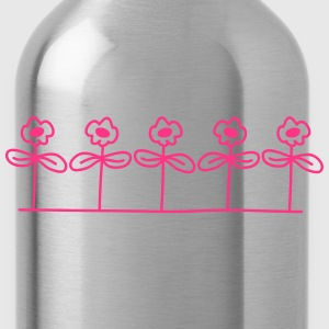 Flowers Design T-Shirts - Water Bottle