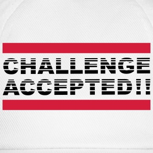 Challenge Accepted Design T-Shirts - Baseballkappe