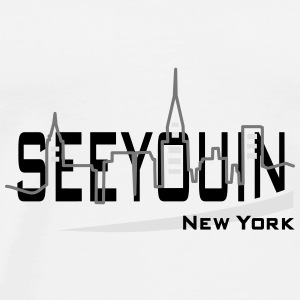 see you in - newyork Buttons - Mannen Premium T-shirt