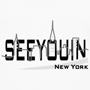 see you in - newyork Buttons - Mannen Premium shirt met lange mouwen