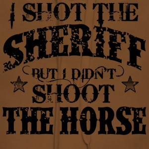 I Shot The Sheriff, But Not The Horse - Black Shirts - Women's Premium Hoodie