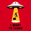 I want to leave - Man tee shirt - Men's T-Shirt
